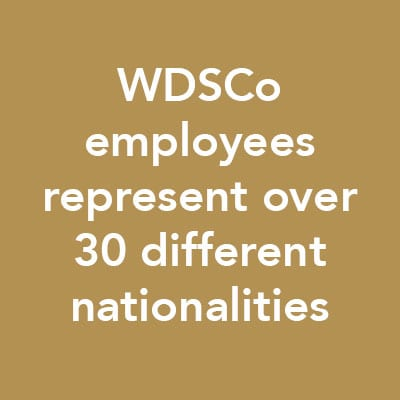 WDSCO Employees represent over 30 different nationalities